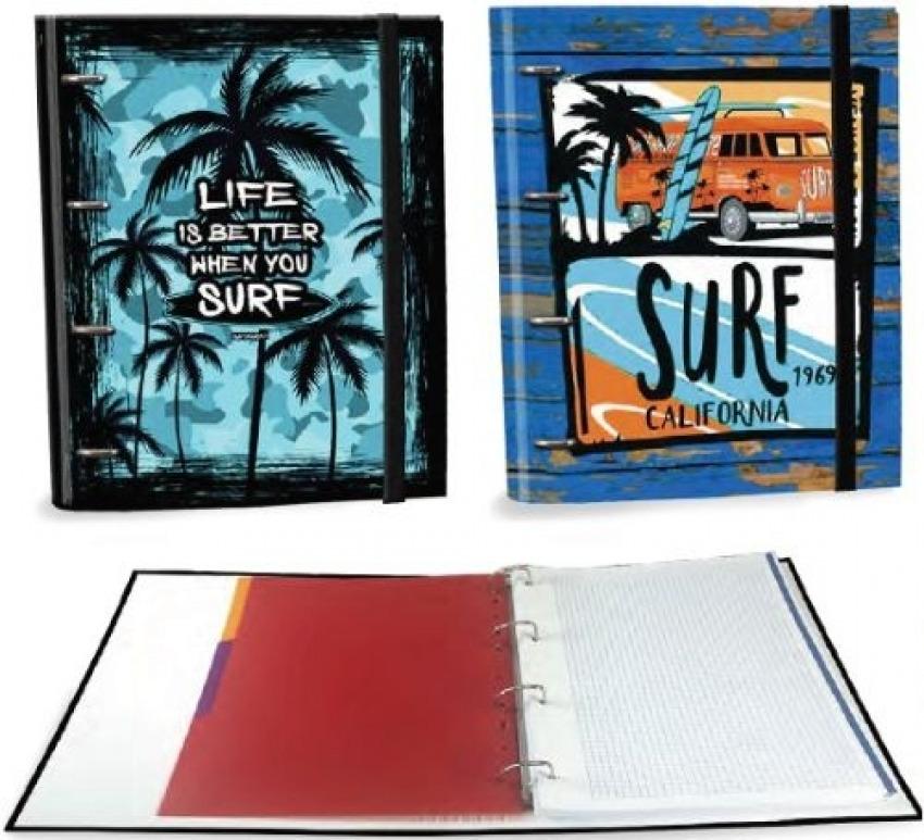 C/4 carpeta a4 4 anillas con recambio 120h palm surf surtidos 8412885184713
