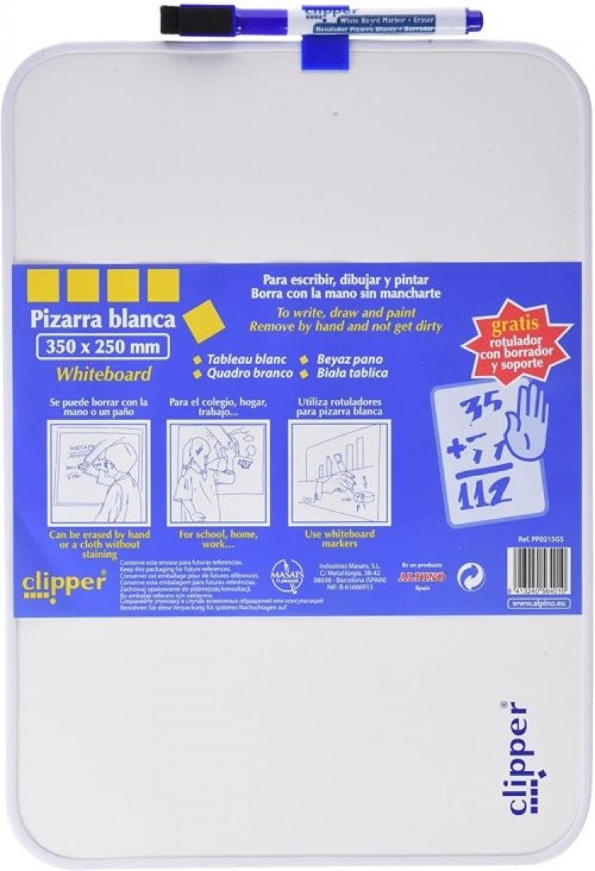 PIZARRA BLANCA CLIPPER 36X25CM CON ROTULADOR 8413240564010