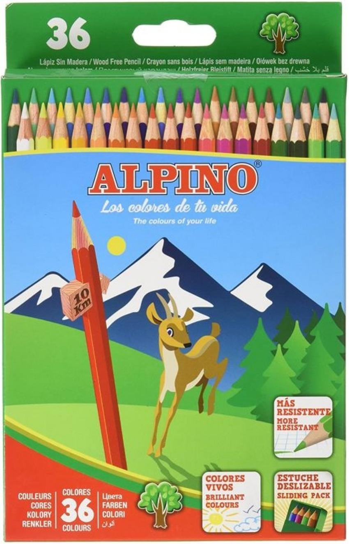 ESTUCHE 36 LAPICES COLORES ALPINO SURTIDOS 8413240590446