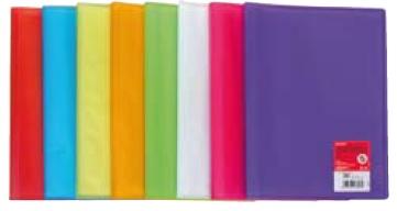 P/12 carpetas Fo. 20 fundas soldadas colores surtidos poliplas 8413623002184