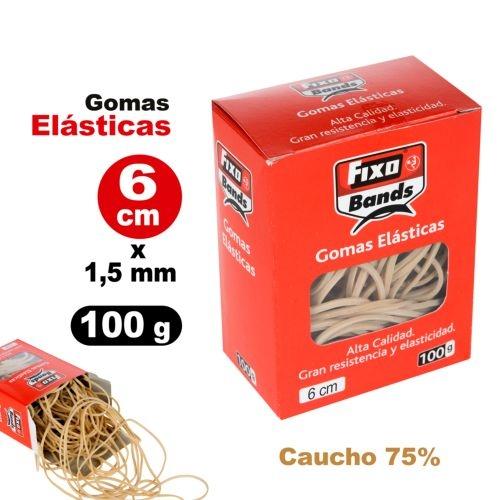 Caja 100g gomas elásticas no.6 fixo 1,5mm x 6cm 8413623006502