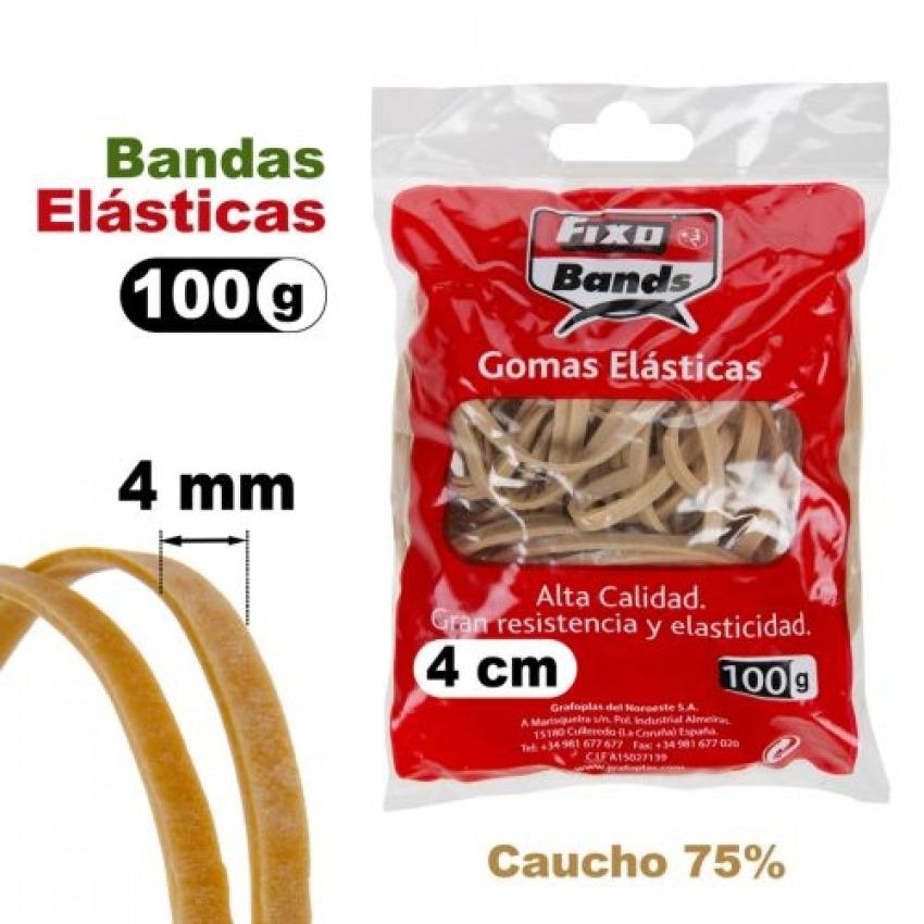 Caja 100g bandas elásticas no.8 Fixo 4mm x 8cm 8413623008698