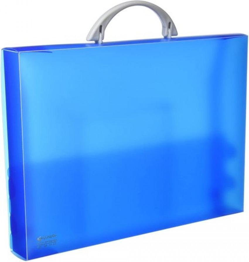Malet¡n portadocumentos polipropileno azul 345x245x40mm. con asa abatible y broche. 8413623010554