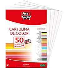 PAQ/50 CARTULINAS FIXO A4 180G. BLANCO 8413623111053