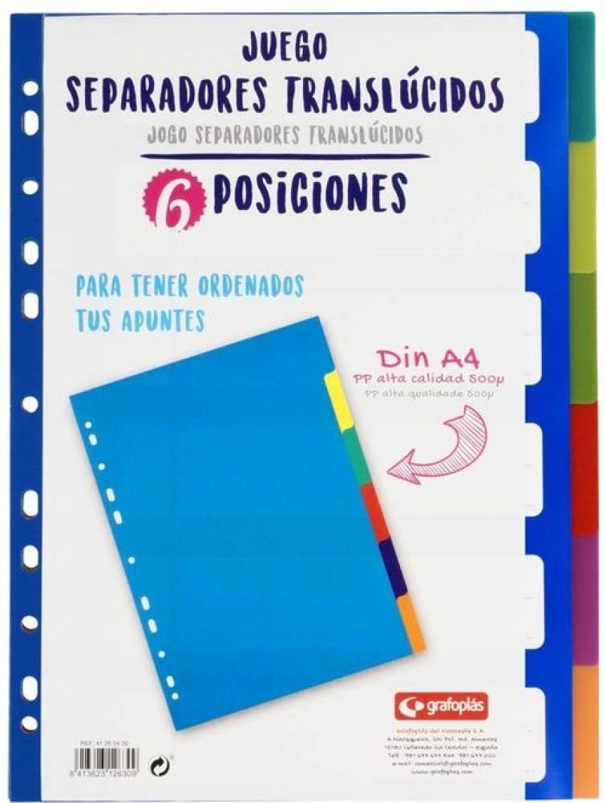 BOLSA SEPARADORES A4 EXTRA-FUERTE 6 PESTAñAS MULTITALADRO 8413623126309