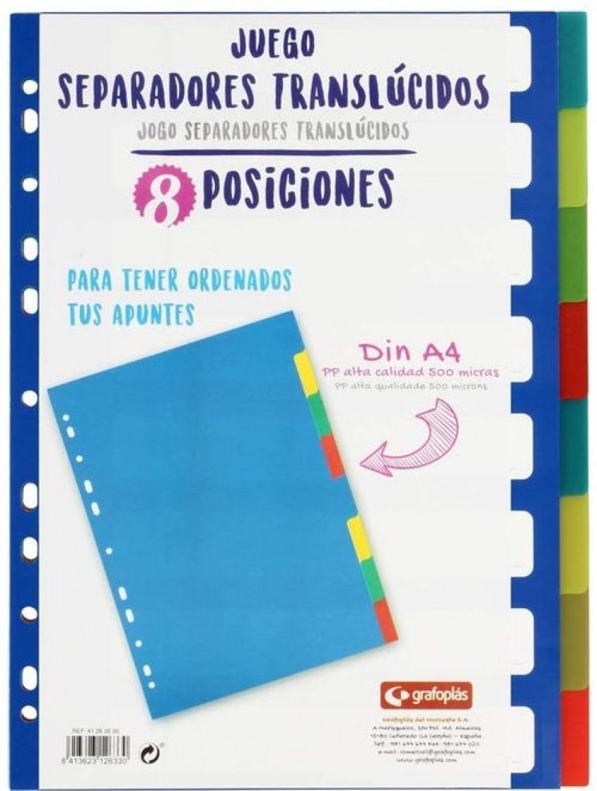 BOLSA SEPARADORES A4 EXTRA-FUERTE 8 PESTAñAS MULTITALADRO 8413623126330
