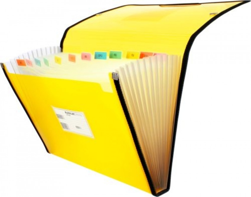 Carpeta fuelle fo. amarillo polipropileno 13 departamentos con ribete 8413623296712