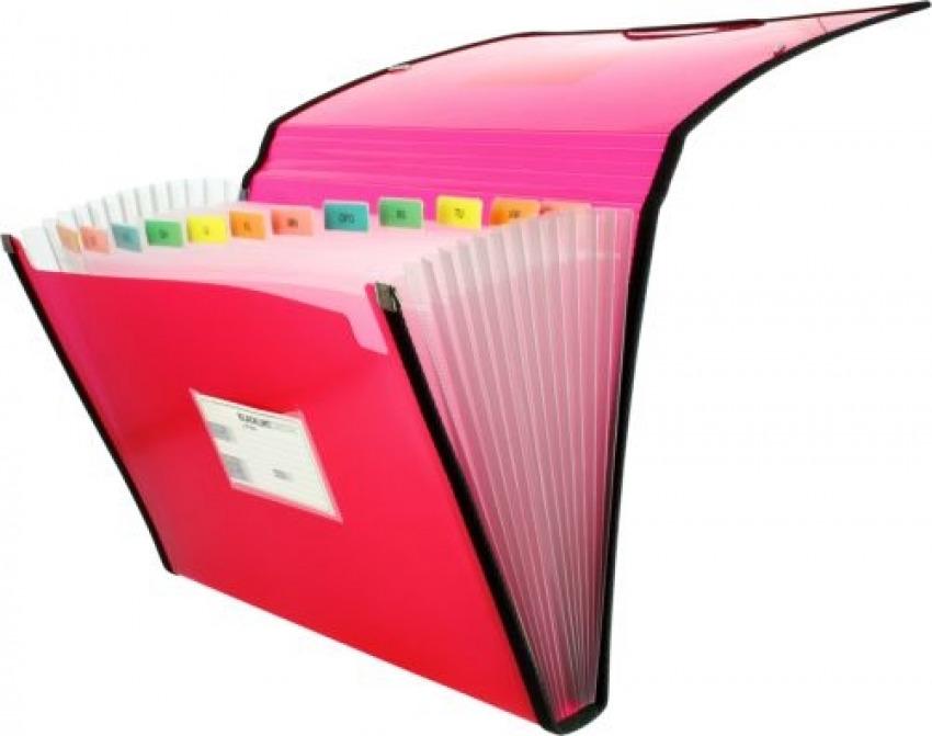 Carpeta fuelle Fo. rosa polipropileno 13 departamentos con ribete 8413623296729