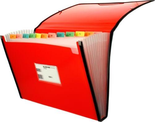 Carpeta fuelle Fo. rojo polipropileno 13 departamentos con ribete 8413623296798