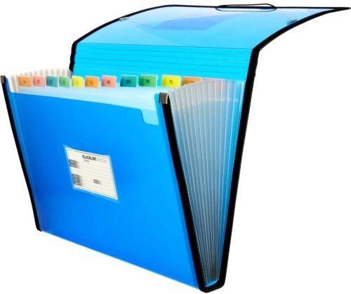 carpeta fuelle Fo. azul polipropileno 13 departamentos con ribete 8413623296897