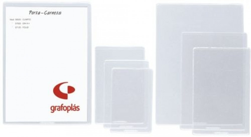 C/25 fundas transparentes identificacion fiscal pvc 200 micras 60x95mm 8413623590001