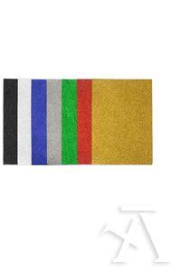 Blister 7 láminas goma Eva con purpurina 40x60cm colores surtidos 8413623802562