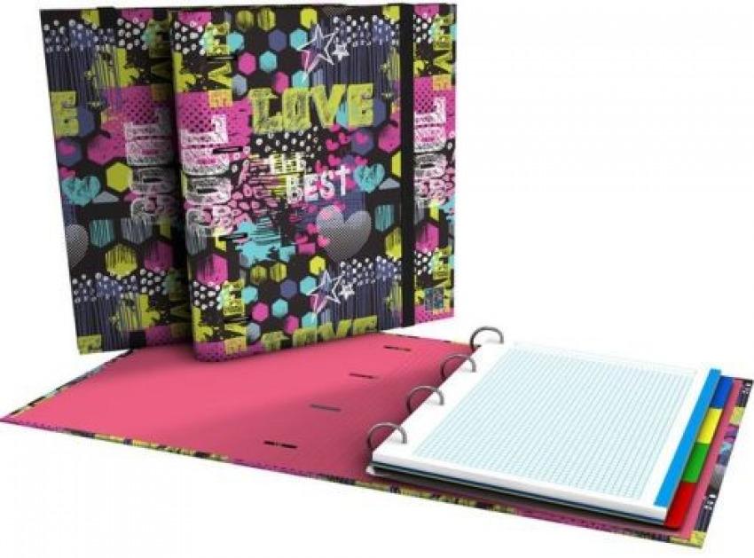 Carpebook a4 4 anillas 35mm con recambio 5x5 100h diverse cool 8413623904198