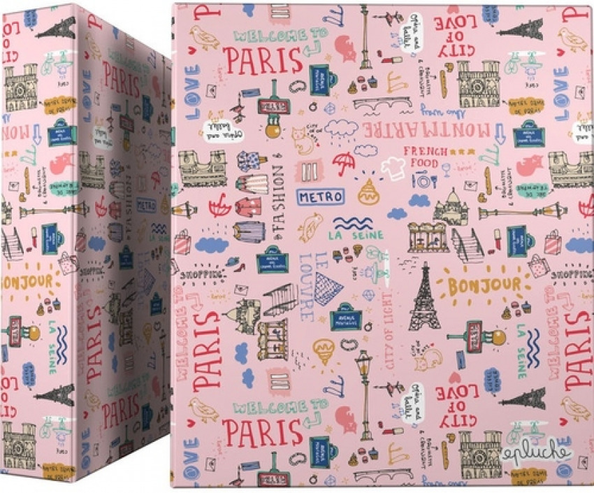 CARPETA A4 4 ANILLAS 40MM CARTON FORRADO EPLUCHE PARIS 8413623951222