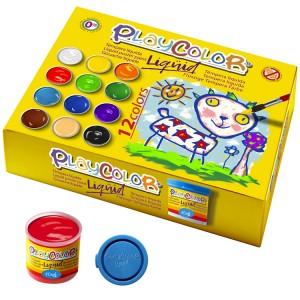 Estuche 12 tempera liquida playcolor 40ml. colores surtidos con pincel 8414213199413