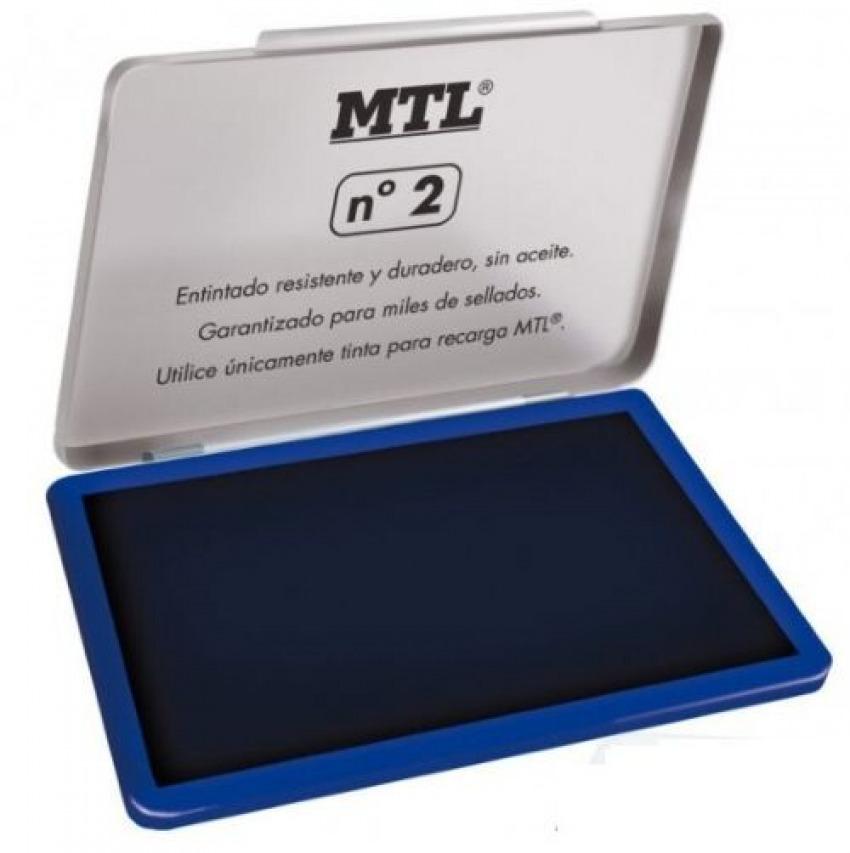 Tampon metalico no.2 azul almohadilla 109x70mm mtl 8421938795301