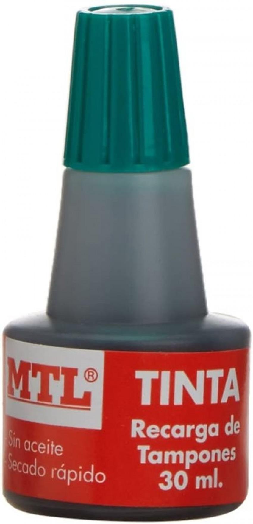 BOTELLA DE TINTA 30ML VERDE RECARGA/ENTINTADO DE TAMPON MTL 8421938795387