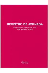 LIBRO REGISTRO JORNADA LABORAL Fo. 40 HOJAS