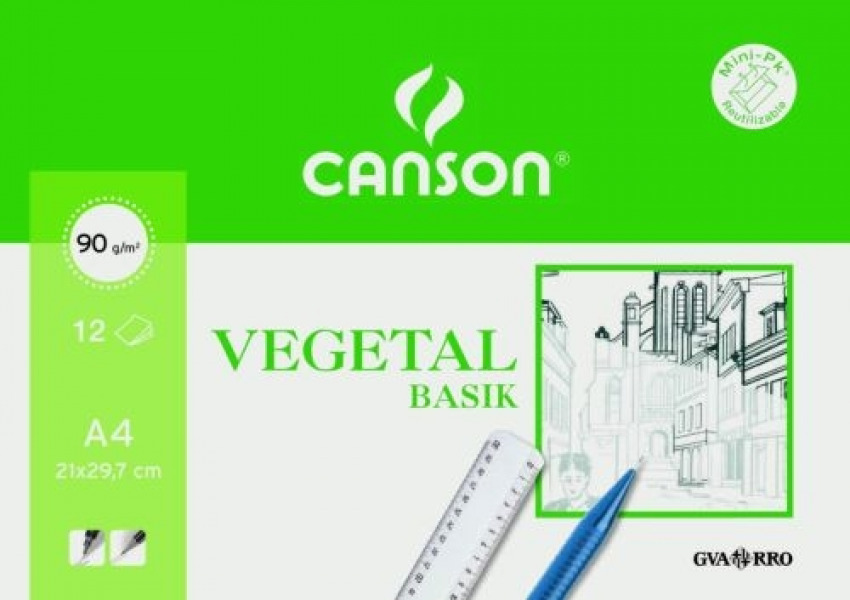 Bolsa minipack 12 hojas papel vegetal a4 95 g 8422714076218