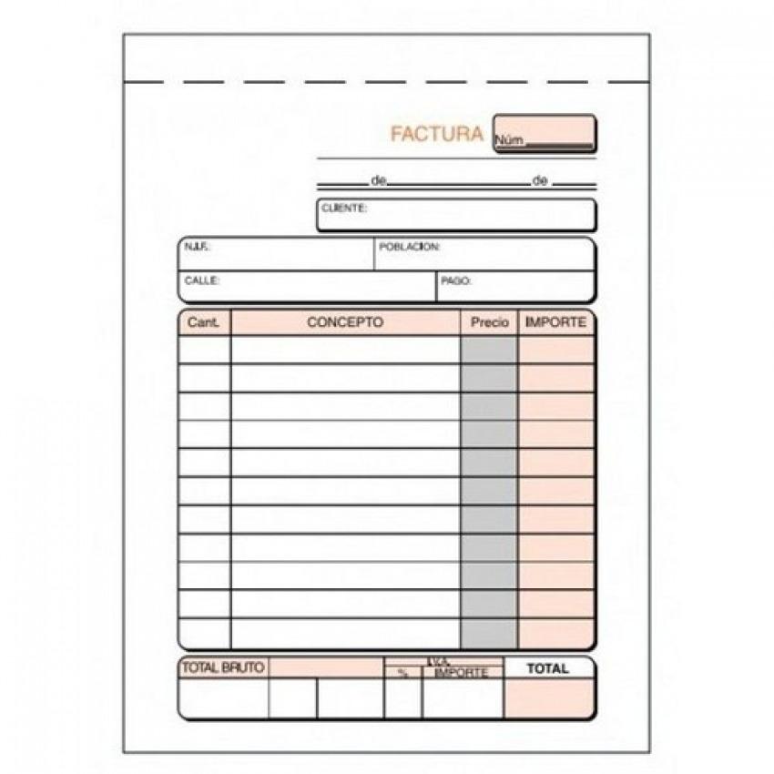 Paq/10 talonarios de facturas 1/8 natural con i.g.i.c. loan 8422742310469