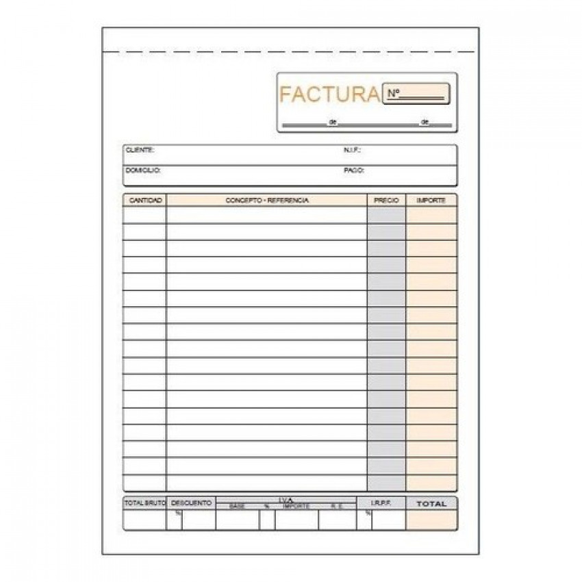 PAQ/10 TALONARIOS DE FACTURAS 1/4 NATURAL DUPLICADO AUTOCO 8422742420632