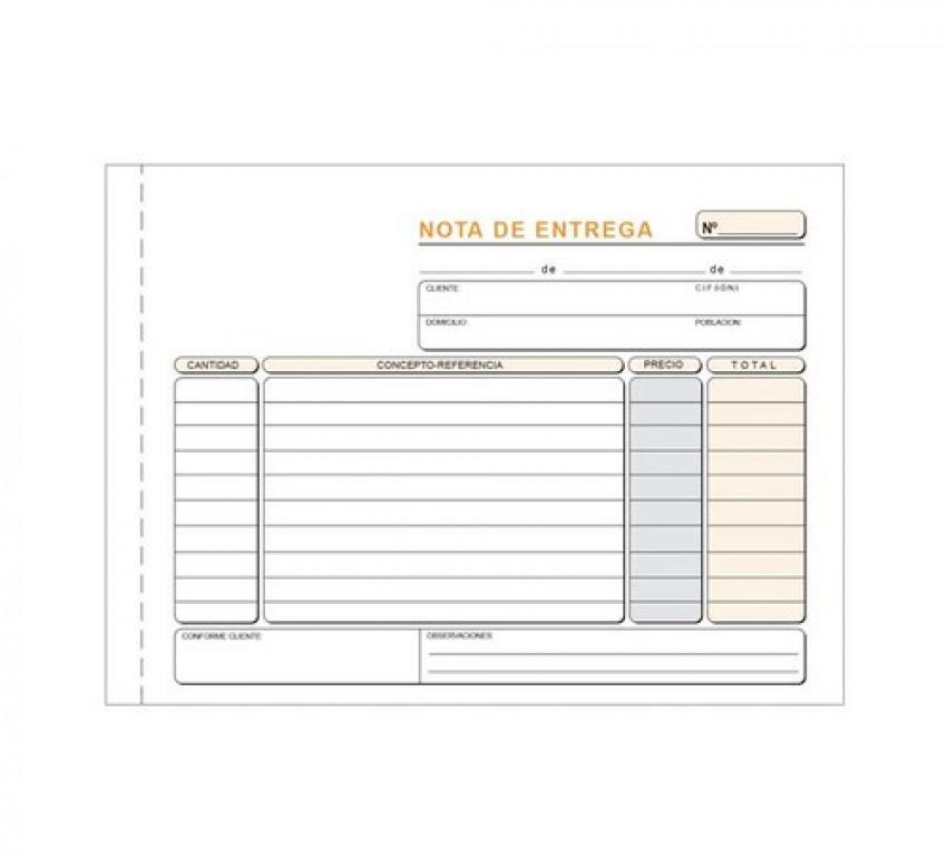 PAQ/5 TALONARIOS DE ENTREGAS 1/4 APAISADO TRIPLICADO AUTOCO 8422742430471