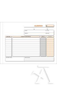 PAQ/5 TALONARIOS DE ALBARANES 1/4 APAISADO TRIPLICADO AUTOCOPIANTE 8422742431218