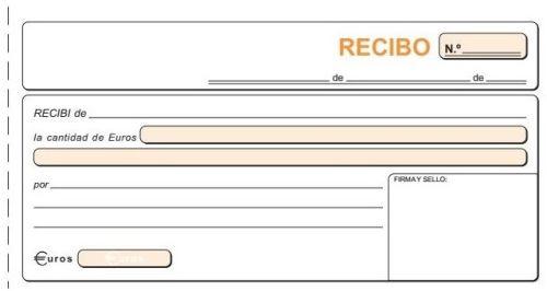 PAQ/10 TALONARIOS DE RECIBOS 1/3 FOLIO 21X10,5 CM DUPL/AUTO 8422742520608