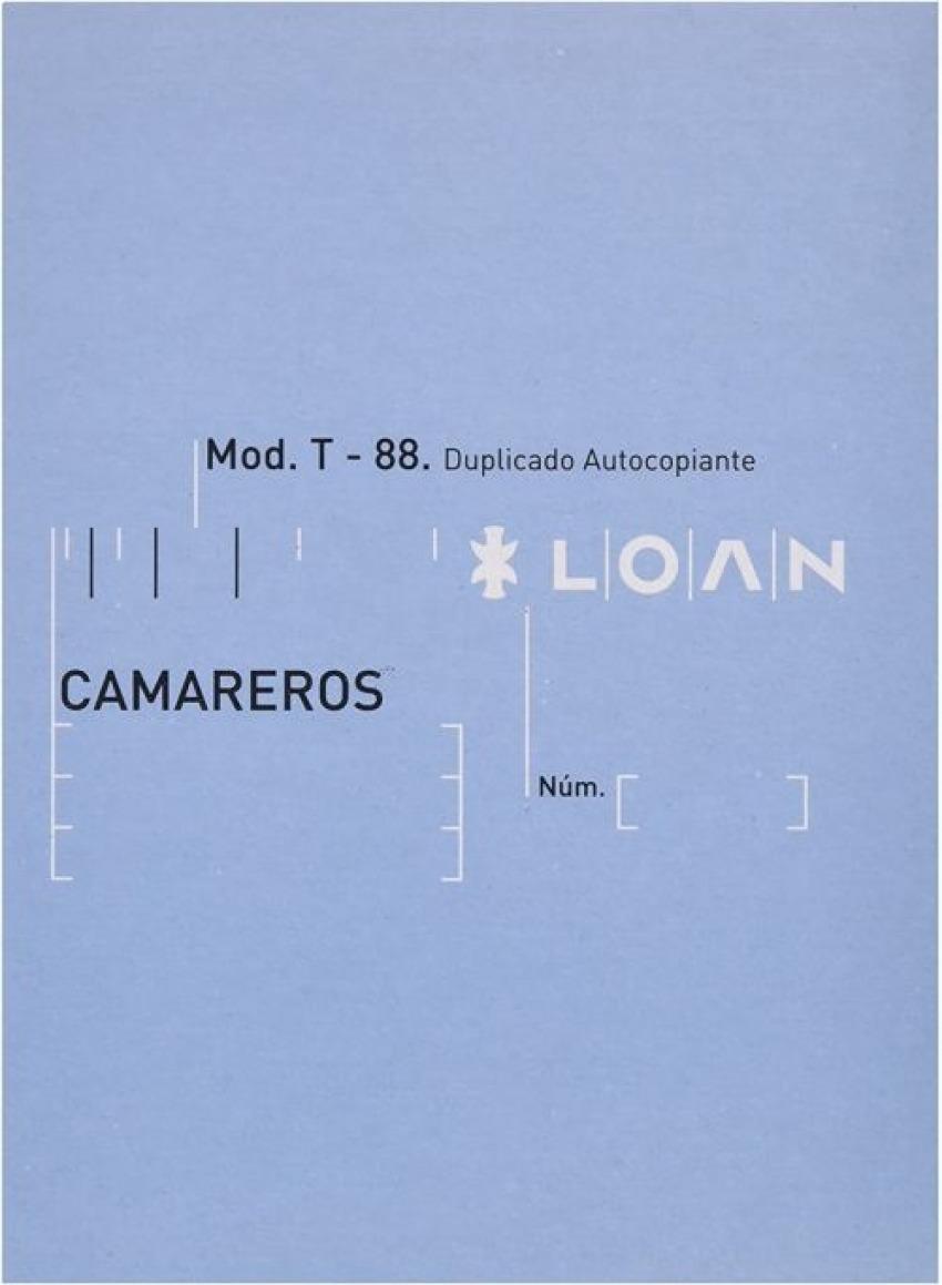 PAQ/10 TALONARIOS DE CAMAREROS 1/8 DUPLICADO AUTOCOP. T-88 8422742620889