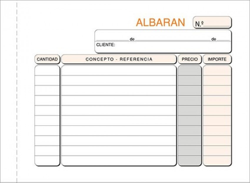 Paq/10 talonarios de albaranes 1/8 natural duplicado autocopia 8422742621237