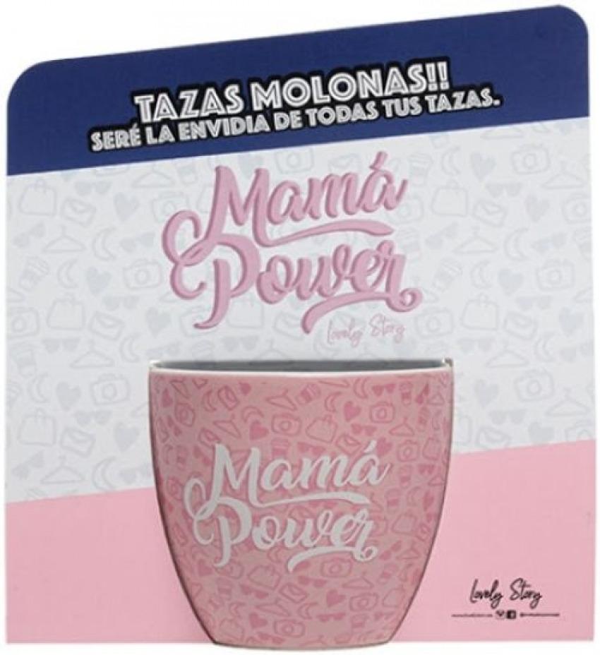 TAZA DE CAFE CON MENSAJE MAMA POWER