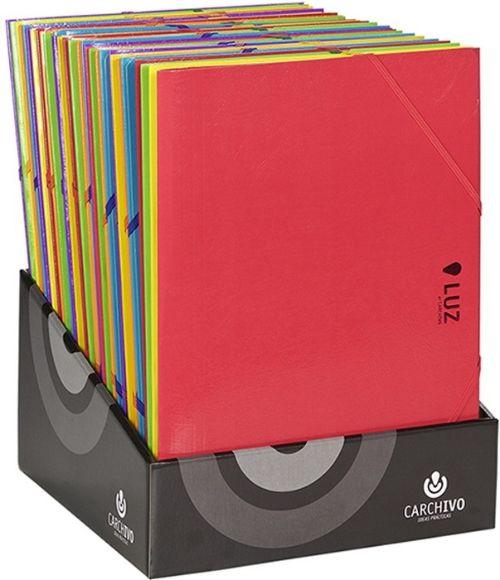 Exp 30 carpeta fo. carton gomas y solapas serie luz colores surtidos 8422951025383