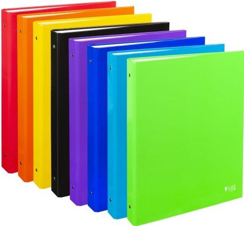 Exp 8 carpeta fo. 4 anillas 25mm carton forrado colores surtidos serie luz 8422951051542