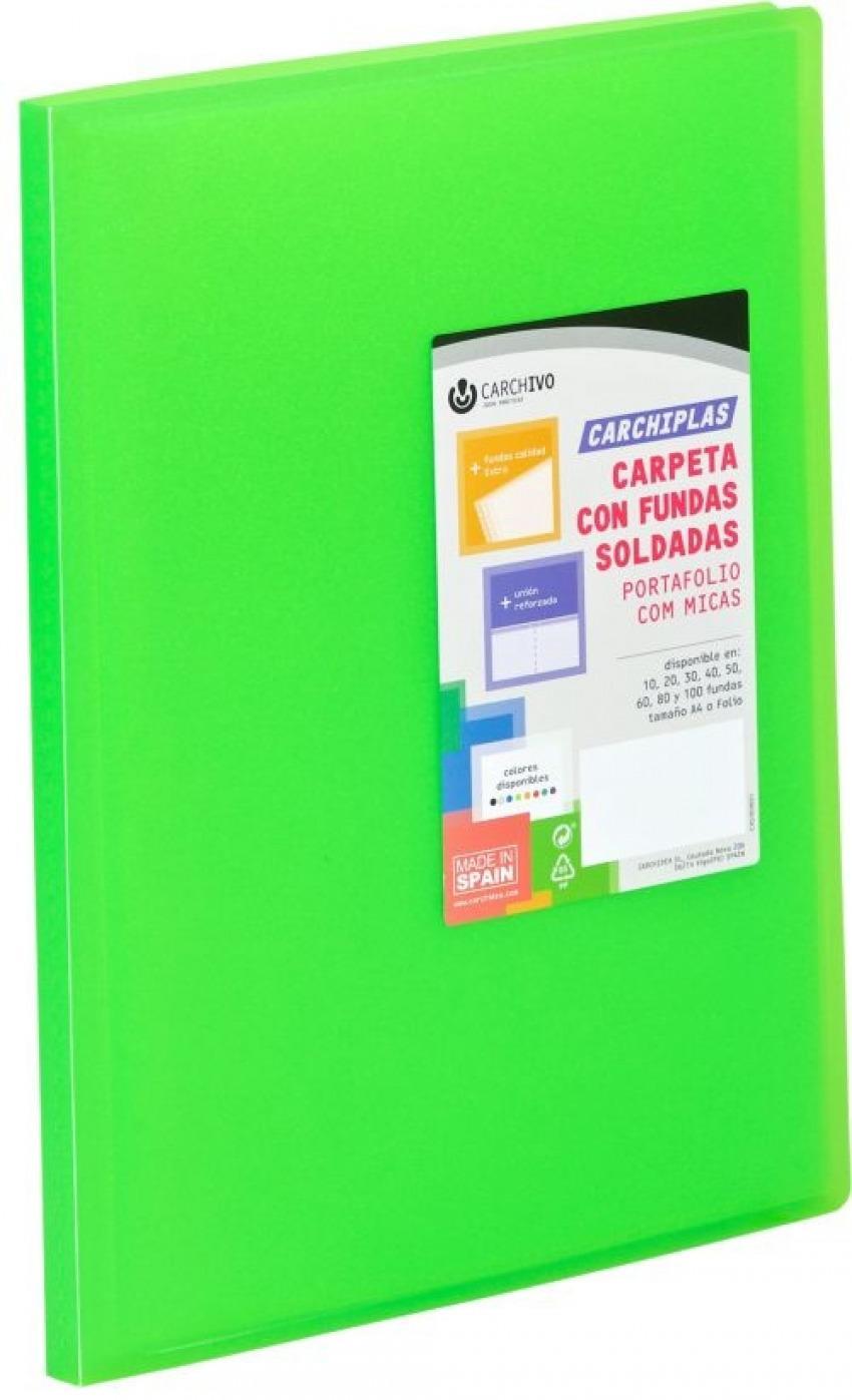 CARPETA 10 FUNDAS A4 TAPA FLEXIBLE LIMA CARCHIPLAS 8422951056745