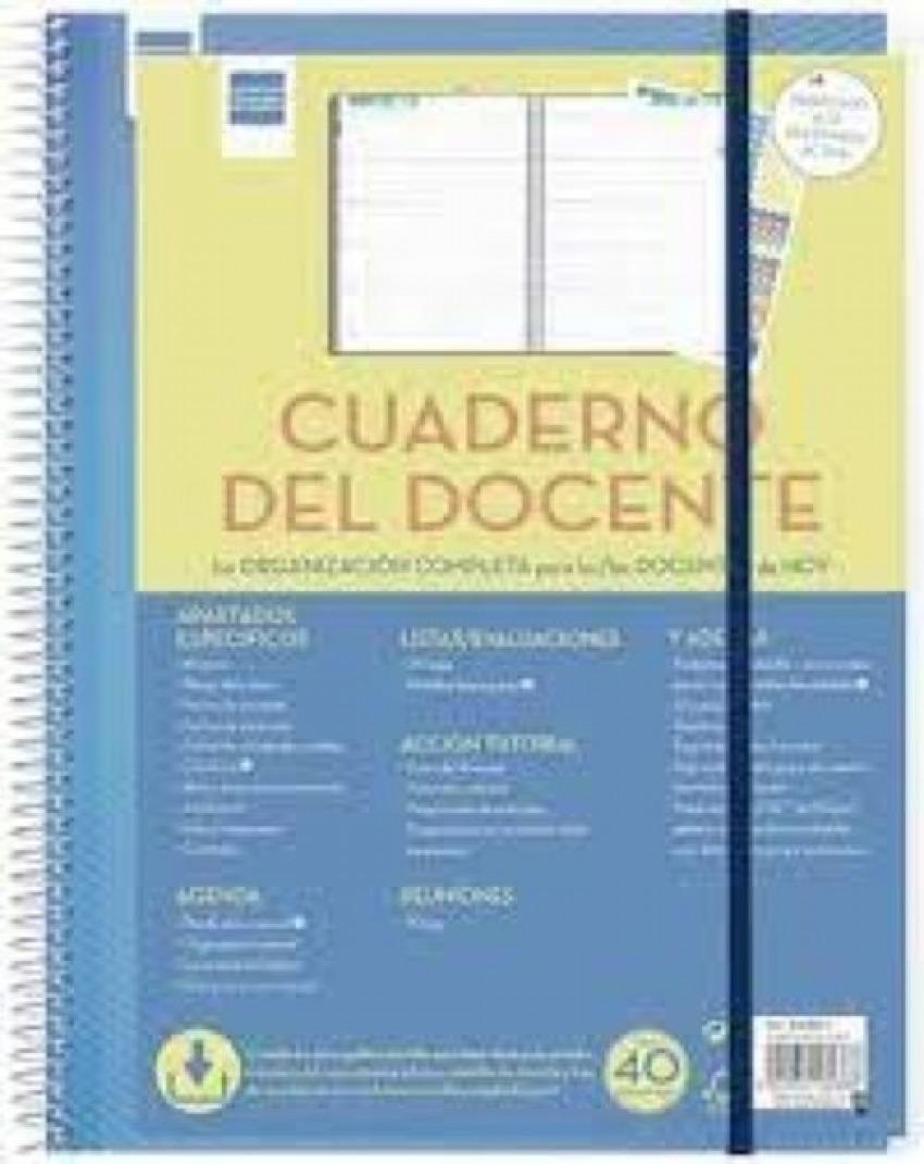 CUADERNO DEL DOCENTE A4 CON APARTADOS ESPECIFICOS 8422952180388