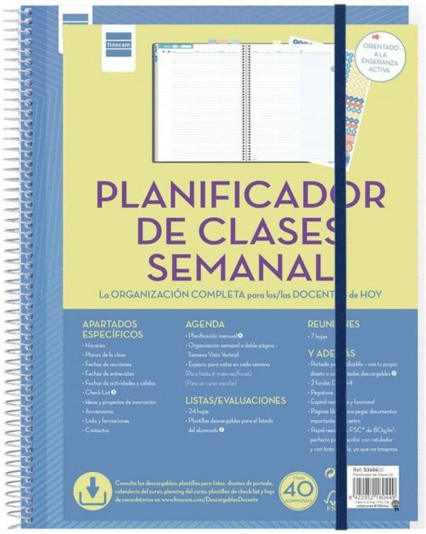 PLANIFICADOR DE CLASES SEMANAL Fo. VARIOS DEPARTAMENTOS S/V 8422952180449
