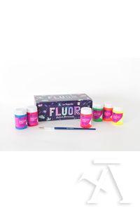 Estuche pintura fluorescente la pajarita 35ml colores surtidos 35 ml.+ pincel 8423451193978