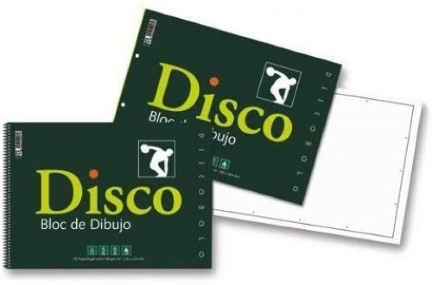 Bloc dibujo disco 130g espiral 230x330mm 20h sin recuadro 8424212001709