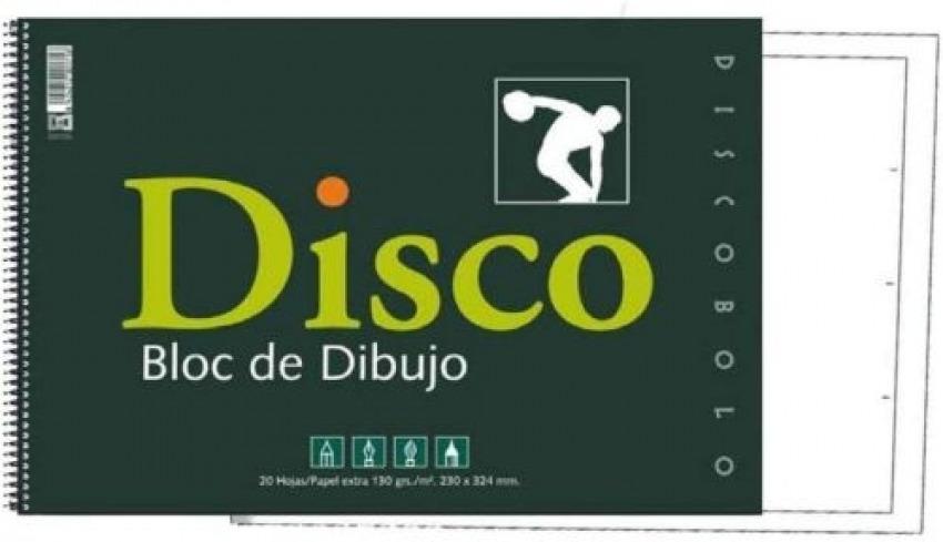 Bloc dibujo disco 130g espiral 230x330mm 20h con recuadro 8424212001716