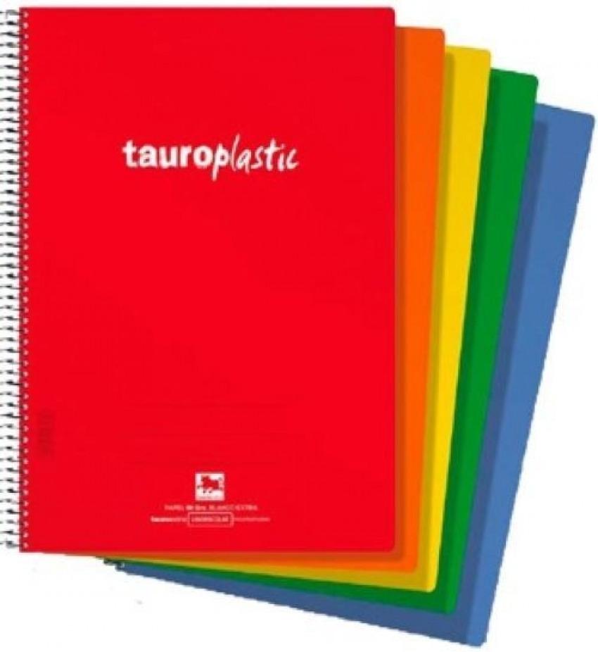 Paq/8 cuaderno espriral fo. 80h 90g cuadrícula 46 tauroplastic tapa pp colores surtidos 84242