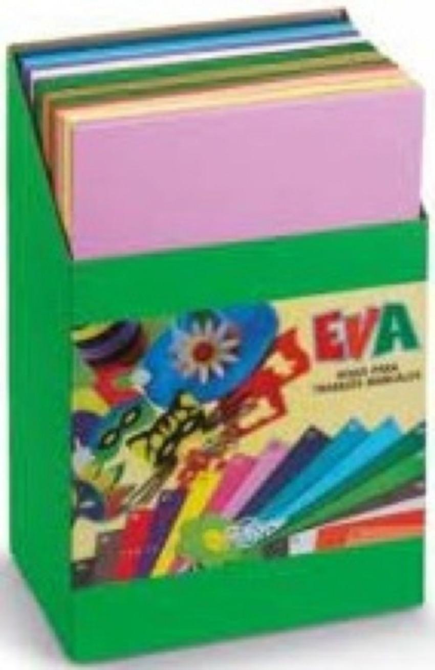 Exp 120 láminas goma eva colores surtidos 40x60 faibo 8425901165085