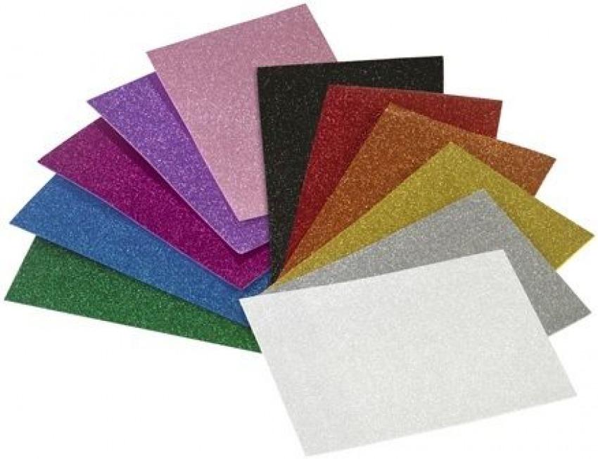 Pack 3 láminas goma eva color rojo efecto purpurina 40x60 8425901165931