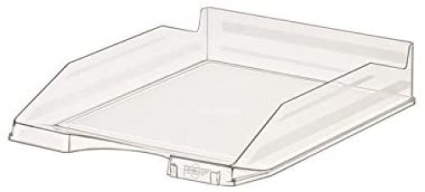 C/10 bandeja sobremesa plastico trasparente cristal 350x250x65mm. 8425901889356