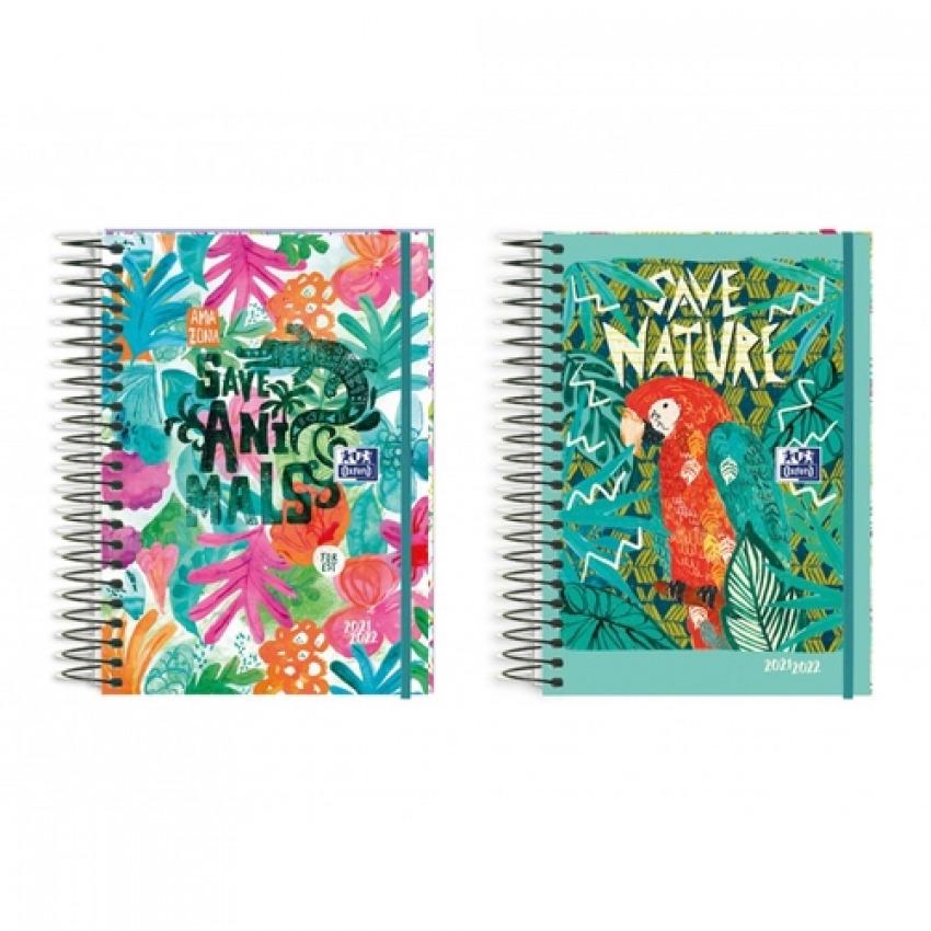 (abono) agenda escolar 21/22 diseños 8 d/p tropical 8427291026892