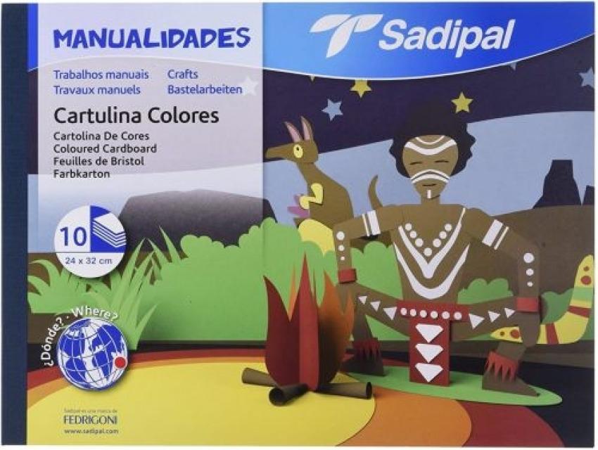 BLOC MANUALIDADES 10 CARTULINAS SURTIDAS SADIPAL 32X24CM 8427973059804