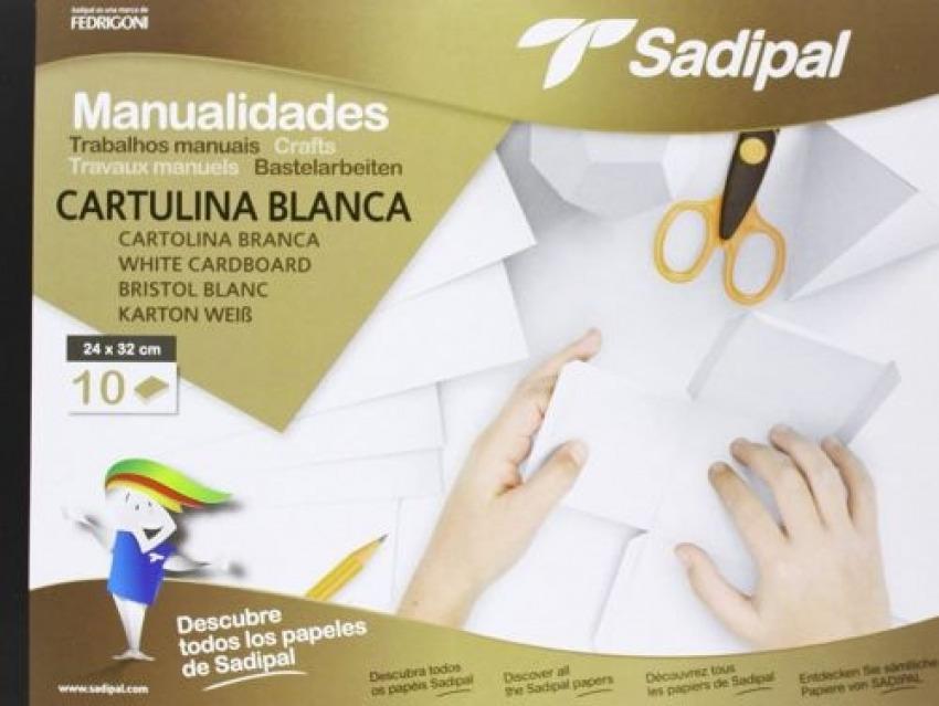 Bloc manualidades 10 cartulinas blancas 32x24cm premium Sadipal 8427973061531