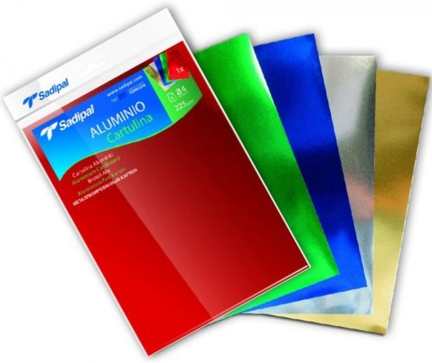 Paq/10 cartulina aluminio 50x65cm 225g color azul 8427973202576