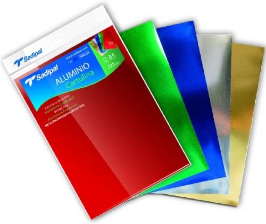 Paq/10 cartulina aluminio 50x65cm 225g color oro 8427973202613