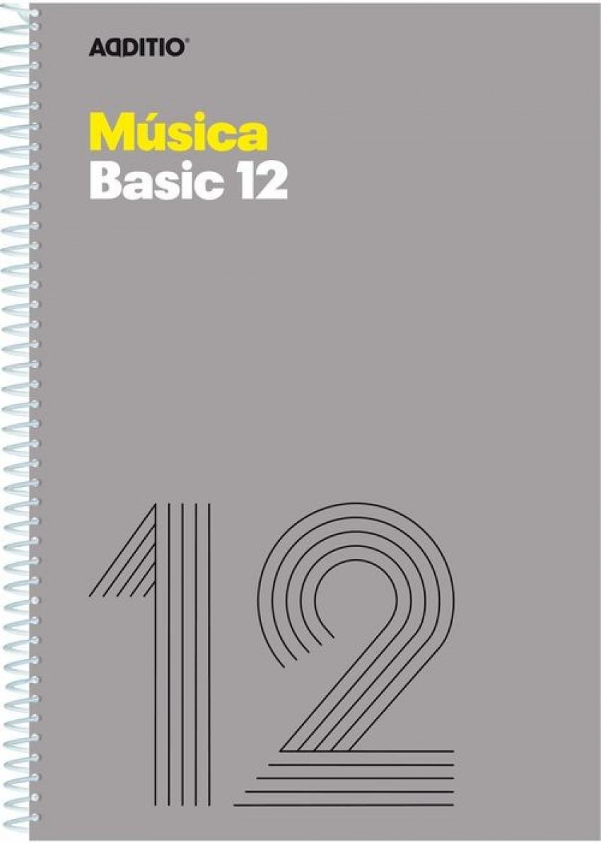 Cuaderno espiral fo. musica basic 12 pentagramas de 10 mm por pagina 20 hojas 8428318012140