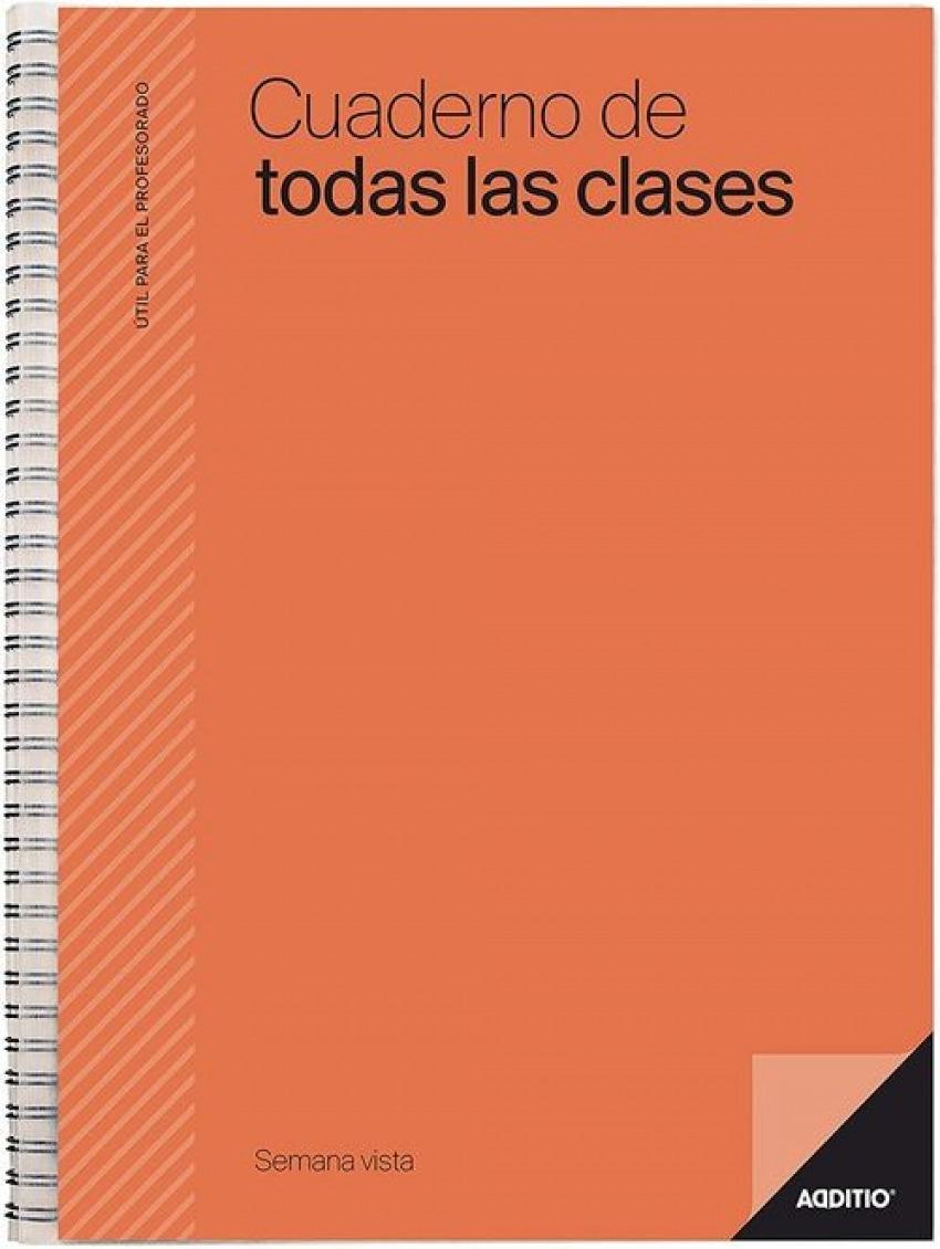 Cuaderno espiral de todas las clases semana vista 8428318012225
